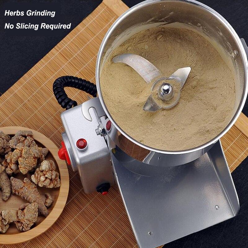 700g Edelstahl Elektrische Kräuter Trockenen Fleischwolf Maschine Gewürze Getreide Brecher Kaffee Bean Grinder Mühle Küche Schleifen