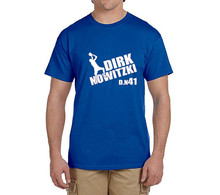 New dirk nowitzki 41 T-Shirt 100% cotton t shirts Mens boyfriend gift o-neck T-shirts for fans 0227-7
