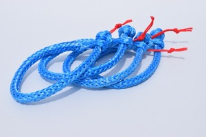 Free Shipping 4units 4mm*90mm Blue Soft Shackle,UHMWPE Shackle for Yacht,Sailing Shackle,Boat Accessaries