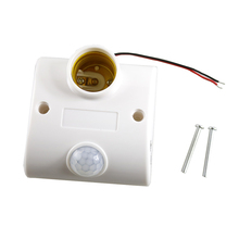 PIR Motion Sensor E27 Base Automatic Body Infrared IR Detector Holder Socket