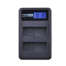 PowerTrust 1 Pacote LCD USB Dual Carregador para Nikon P7800 EN-EL14 ENEL14 EN-EL14a, P7100, D3400, D5500, D5300, D5200, D3200, D3300, D5100