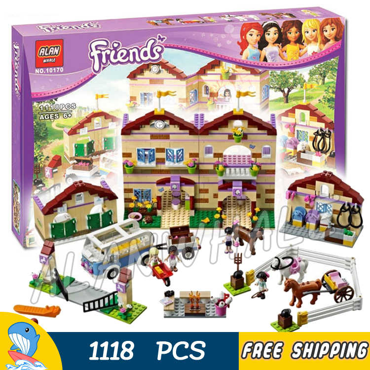 1118pcs Friends Heartlake Summer Riding Camp 10170 Horses Champion Sunshine Figure Building Blocks Toys Compatible With LegoING