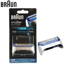 Braun 20 s Elektrikli Traş Makineleri Yedek kafa Folyo & Kesici için CruZer Traş Makineleri tıraş bıçağı (Z20 Z30 Z40 2876 5732 cruzer4 Cruzer5)