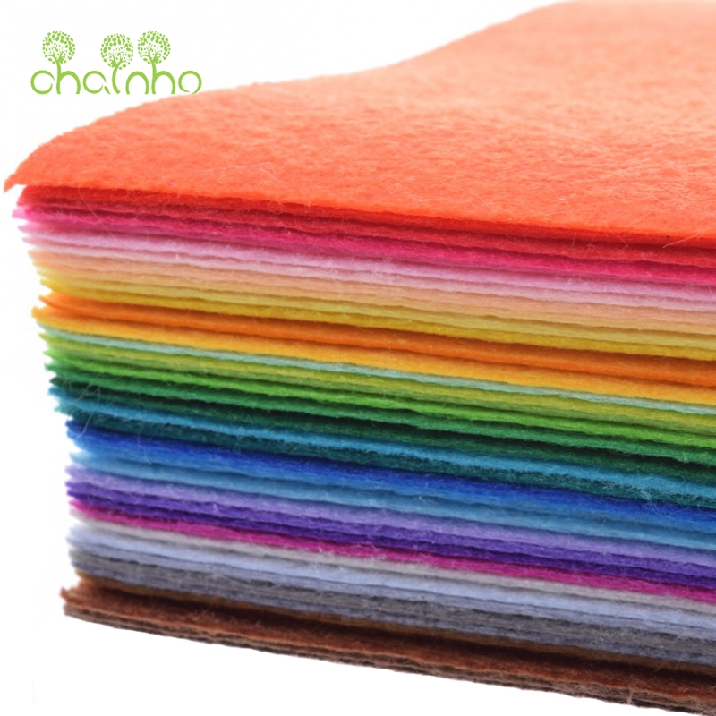 Non Woven Fabric,1mm Thickness,Polyester Felt Of Home Decoration Pattern Bundle For Sewing Dolls Crafts 40pcs 20x30cm