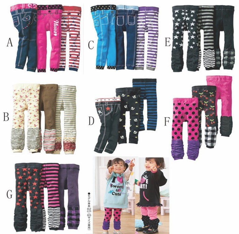 3pcs 2016 Baby Pants Winter Warm Children PP Pants Kid Girl Leggings Leg Warmer Toddler Trousers Clothes