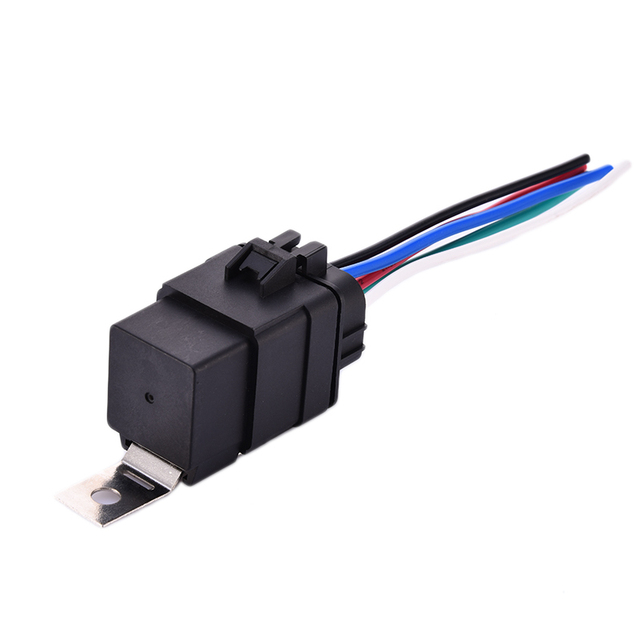 DC 12V 40A 4 Pin 5 Pin Automobile Relay Socket Waterproof Integrated