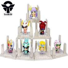 7pcs Saint Seiya Cloth Myth Shiryu Hyoga Seiya Shun Jabu figuras Japan Anime Knight of Zodiac Pvc Action Figures Toy Kids toys