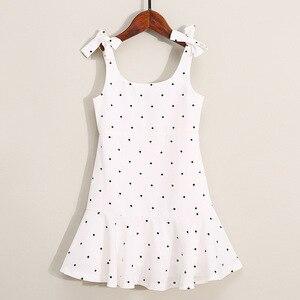 Image 4 - PPXX Familie Passenden Kleidung Mutter Tochter Kleid Polk Dot Mom Mädchen Kinder Familie Spiel Outfit Baby Mädchen Kleider Vestidos