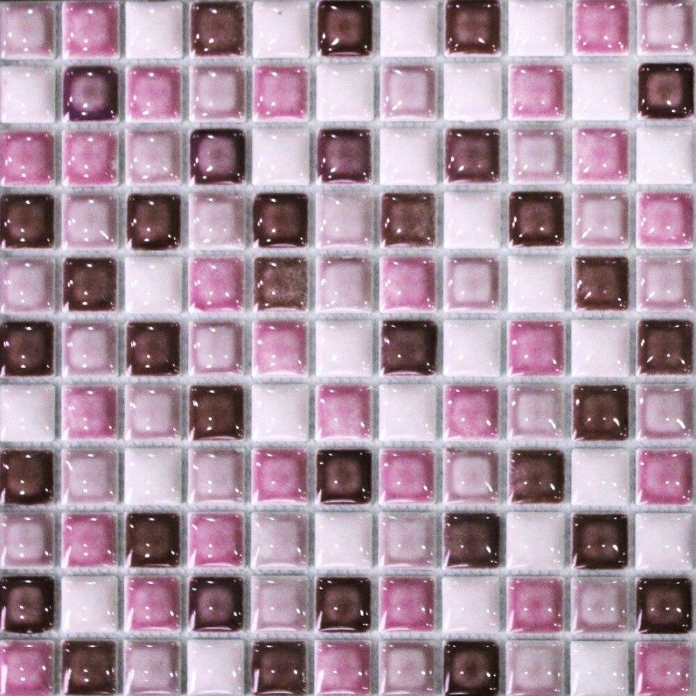 Piastrelle Bagno Mosaico Viola nuovo stile viola ceramica mattonelle di mosaico backsplash