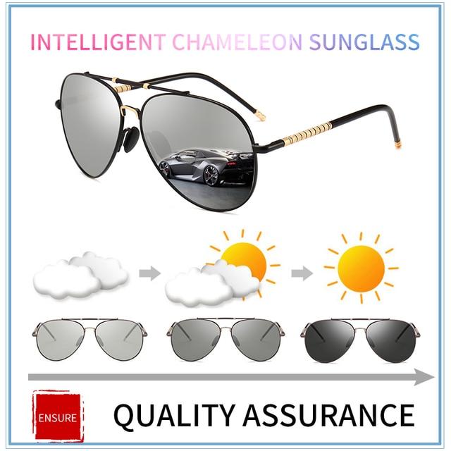 68309151425 2018 new Driving Photochromic Sunglasses Men Polarized Chameleon  Discoloration vintage Sun glasses for women oculos de sol cool
