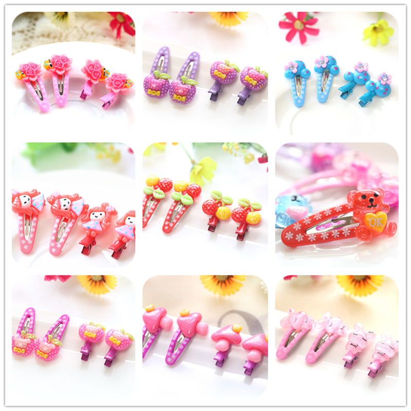 8pc Fashion BB Hair Clip Child Headband Girl Bow Hair Accessories Children Hairpins Gift Flower Barrettes Bobby Pin Random Color new colorful ribbon baby hair clips hollow bow hairpins children hair accessories circle protect well wrapped flower barrettes