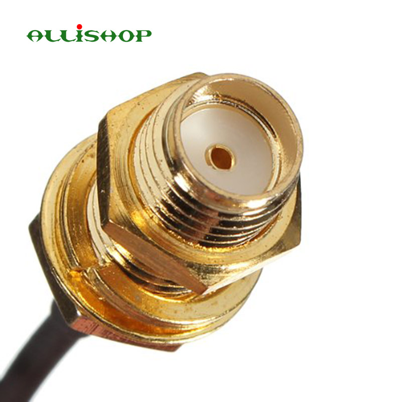 100 Pcs 0-3Ghz Wifi router Wireless phone wireless AP Extension pigtail SMA female socket jack to U.FL IPX connector 1.13 cable