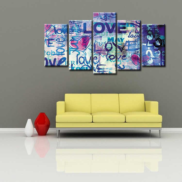 5 Панель рамка граффити плакат холст настенная художественная картина украшение дома гостиная холст печать Современная живопись/абстрактная-44