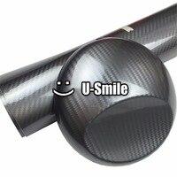 5D 최고 등급 시니 광택 회색 탄소 섬유 비닐 랩 스티커 데칼 거품 무료 자동차 포장 크기: 1.52X20 메터/