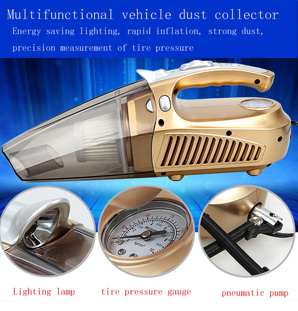 High quality 12V 100W Car Vacuum Cleaner ,Multifunctional vehicle dust collector free shipping