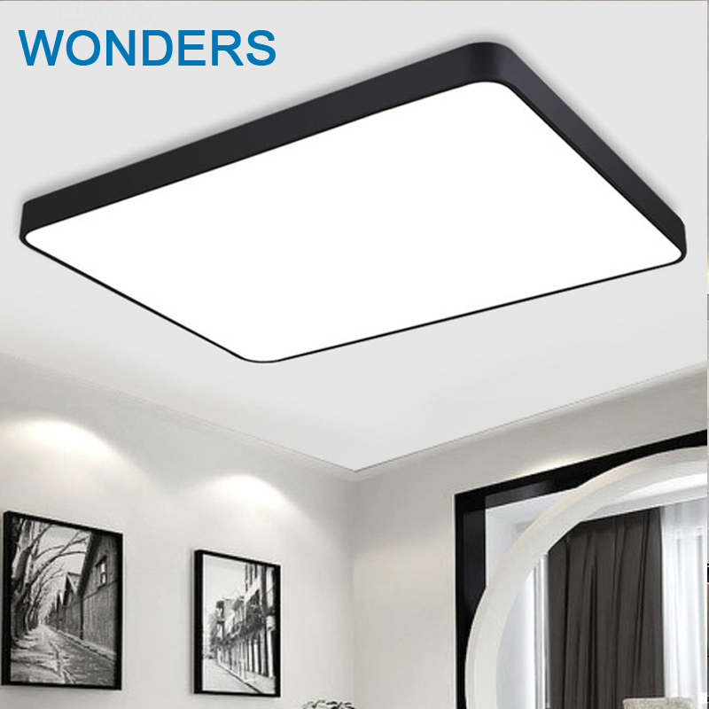 Black White Mordern Contracted Iron Square Diy Ceiling Light Living Room Bedroom Light