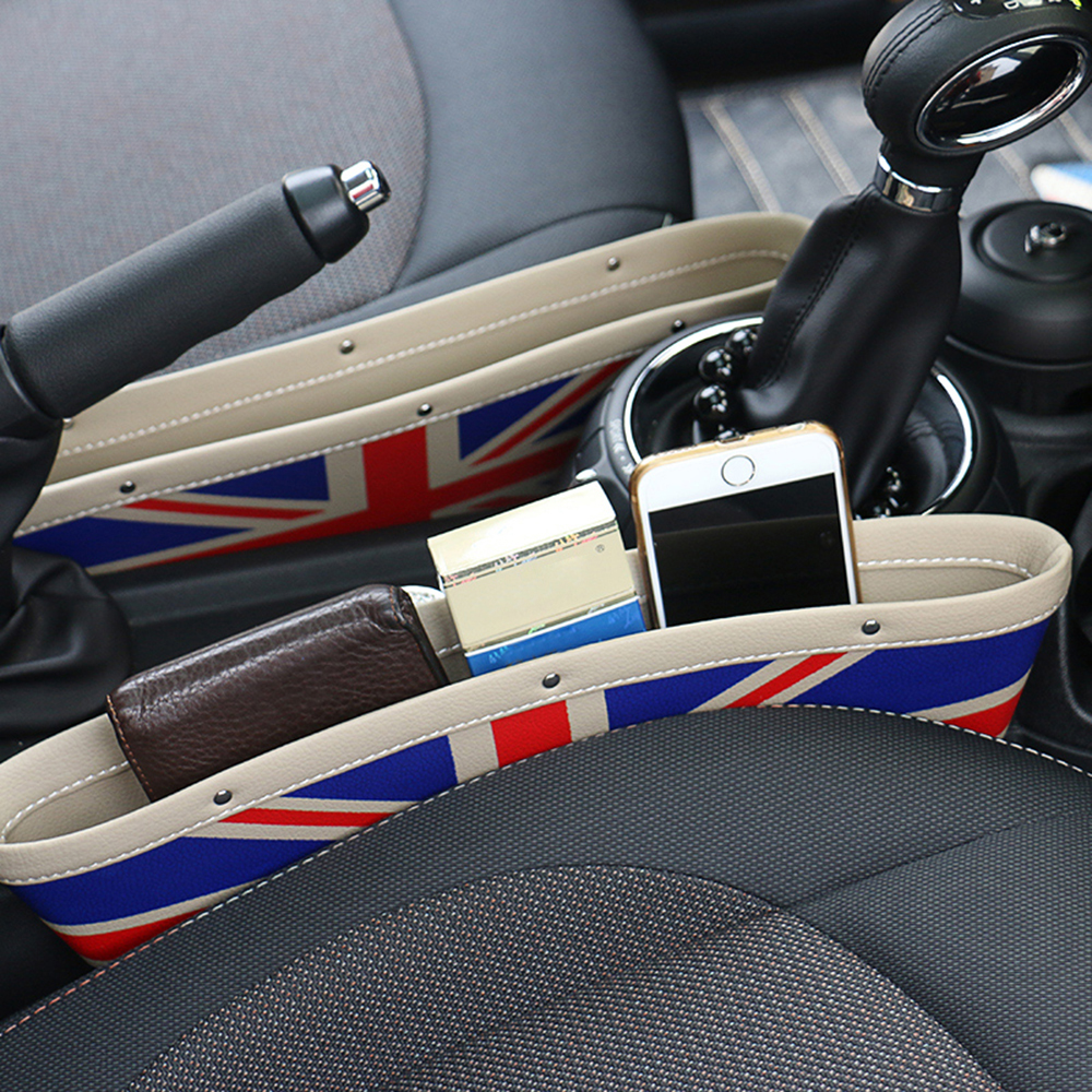 2pcs Car Seat Gap Anti-Leak Storage Bags Pocket for Mini Cooper One JCW Countryman Clubman F55 F56 F60 R56 R60 R61 Accessories car 3 5mm audio cable mini cooper one s jcw r55 r56 r57 r58 r59 r60 r61 f56 f55 clubman countryman 80cm car aux cable