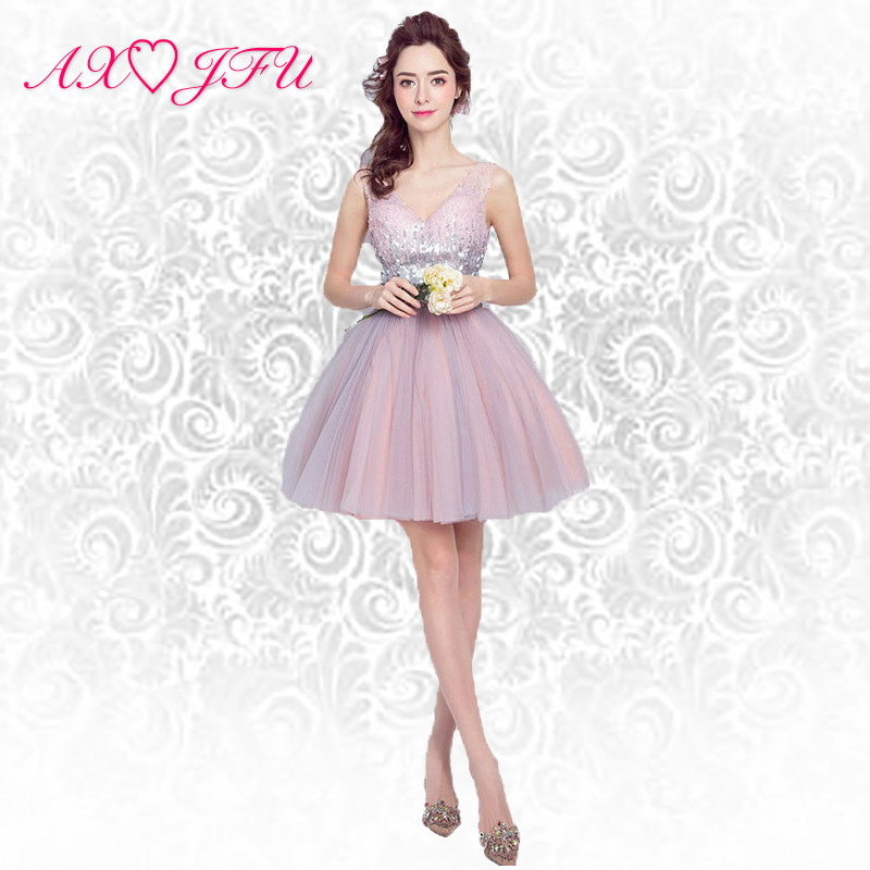 Detail Feedback Questions about AnXin SH Pink evening dress heavy nail bead  princess bride evening dress short evening dress toast service 5980 on ... d0db98fbe306