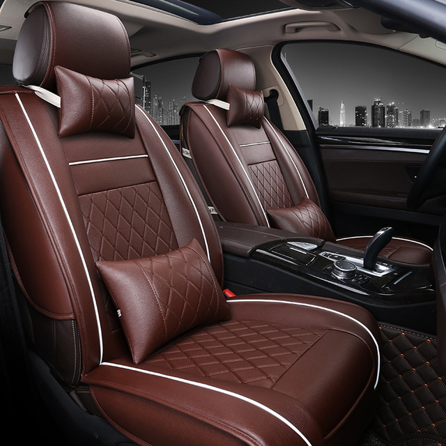 Front Rear Luxury Leather Car Seat Cover For Mercedes Benz