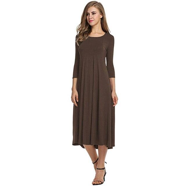 2018 Women Linen Vintage Dress Patchwork Casual Loose Boho Long Maxi Dresses Plus Size 2XL 3XL Large Sizes Dresses  4