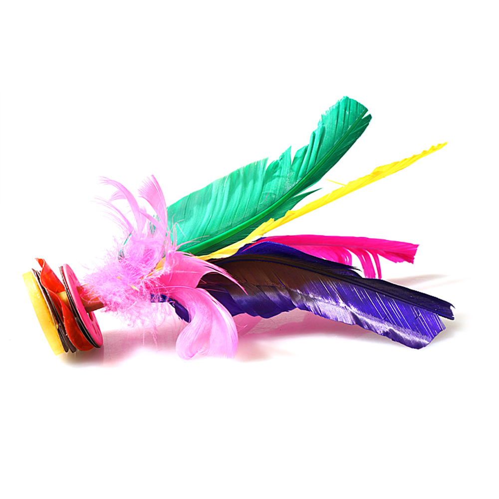 1PCS Colorful Chinese Jianzi Feather Kicking Shuttlecocks Foot Exercise Sports Game Foot Kicking Shuttlecock