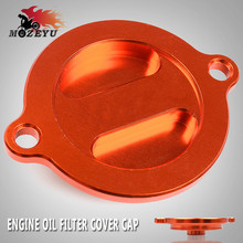 купить Motorcycle Oil Filter Cover Cap For KTM 125 200 390 690 990 1090 1190 1290 RC 8 Duke Enduro SMC Supermoto Super Adv R Adventure дешево