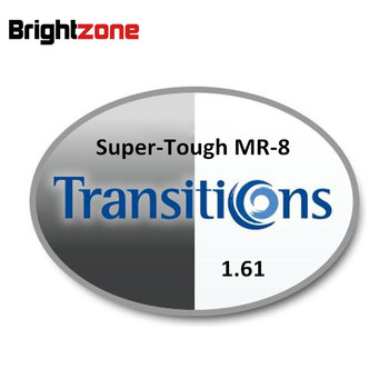 1.61 Super-tough MR-8 Photochromic Gray & Brown HMC UV AR Unisex CR-39 eyeglasses prescription RX lenses for myopia astigmatis