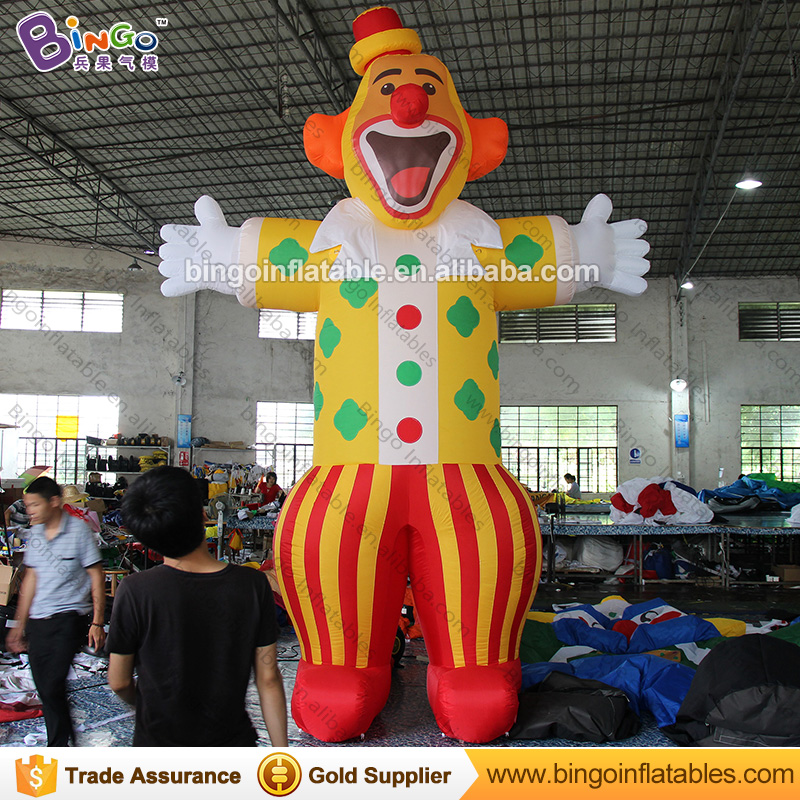 Free shipping 5M high giant inflatable clown for circus  event promotional cartoon type toy joker replicas for amusement park