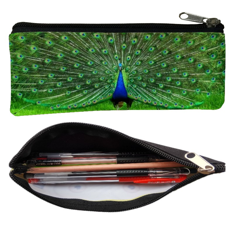 Hot Sale Printing Cute Animal Peacock Women Coin Purses For Kids Baby Pen Bags Bird Boys Key Wallet Children Change Purse Gift