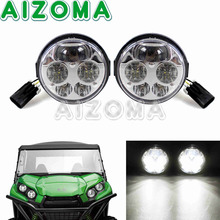 1 Pair Black LED Headlight ATV UTV Custom For Kawasaki Teryx 4 750 EPS LE 2012-15  Teryx™ & Teryx4 2014-15 Brute Force
