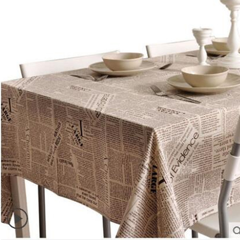 Modern literary Nordic contracted newspaper tablecloth table cloth cotton and linen rectangular TV ark
