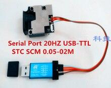 Промышленный модуль 620-690nm Лазерная Высокая точность +/-1 мм последовательный Порты и разъёмы 20 Гц USB-TTL STC SCM 0.05- 02 м лазерного дальномера Сенсор