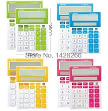 New Deli 1281A Desktop Calculator solar panel color dual power computer