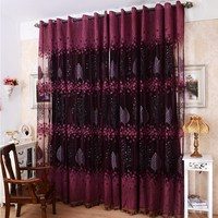 Luxurious Upscale Jacquard Yarn Curtains Tulle Voile Door Window Curtains VB451 T15 0 5