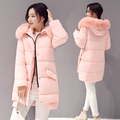 New Winter Cotton Jacket Coat For Female Thick Fur Collar Coat Long Thick Warm Down Overcoat Parka Womens Clothing