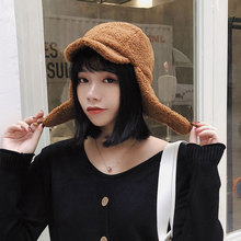 Wool Winter Bomber Hats For Women Men Lamb Cashmere Thicken Warm Cap for Girl Boy Keep Solid Color