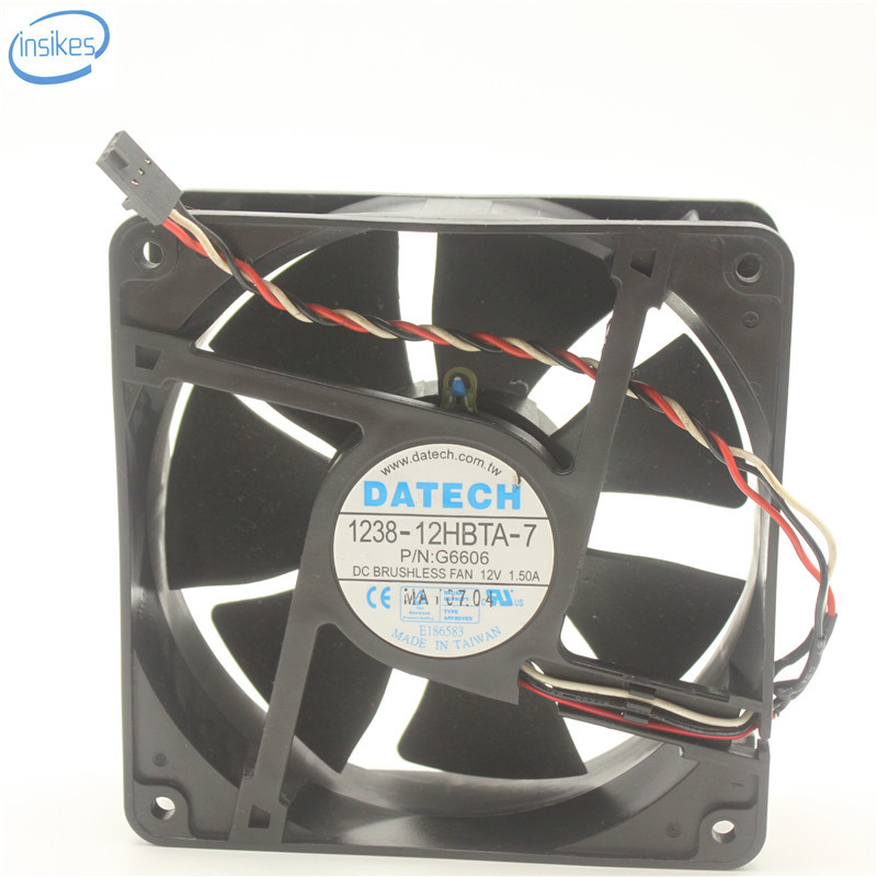 Original 1238-12HBTA-7 P/N:G6606 DC 12V 1.5A Computer Brushless Server Cooling Fan 12038 120*120*38mm