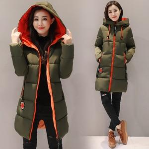 Image 5 - Парка женская 2020 зимняя куртка женское пальто с капюшоном верхняя одежда женская парка зимнее женское базовое пальто Z30