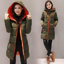 Parka kobiety 2019 kurtka zimowa kobiety płaszcz z kapturem znosić kobiet Parka gruba bawełna wyściełane podszewka zima kobiet podstawowe płaszcze Z30 5