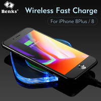 Benks Portable Qi Wireless Charger Fast Charging Pad For IPhone 8 8 Plus Samsung S7 S6