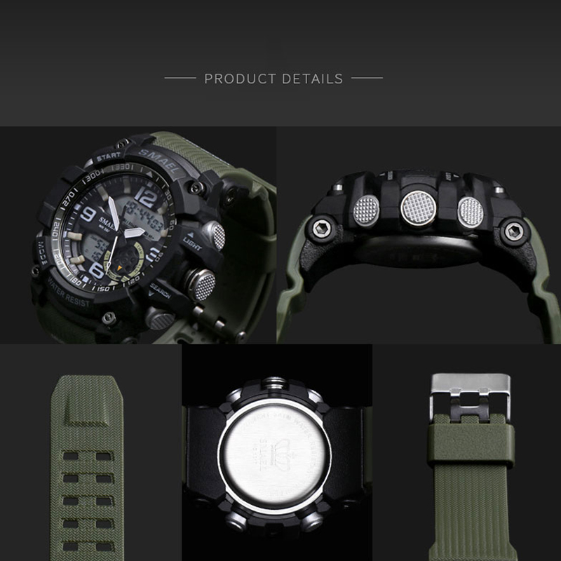 SMAEL αναλογικό-ψηφιακό ρολόι ανδρών - Ανδρικά ρολόγια - Φωτογραφία 6