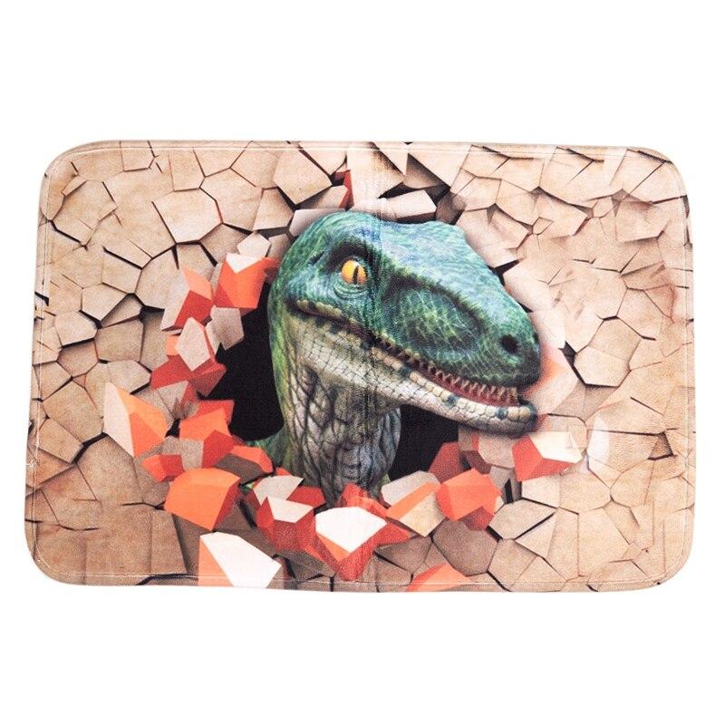 FBIL-60X40Cm 3D Dinosaur Print Floor Mat Carpet Soft Flanner Doormat Rugs For Bedroom Living Room Door Floor Hallway Mats