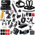 Gopro Hero 5 Accessories Set Helmet Harness Chest Belt Head Mount Strap Monopod Go pro hero 5 5S 4 3+3 EKEN H9 xiaomi yi 4K GS42