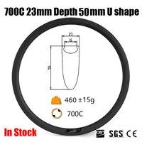 Catazer Toray Carbon T700 700C 23mm Wide 50mm Clincher UD Rim U Shape For Road Bike