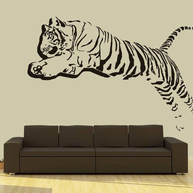 Wandtattoo Vinyl Aufkleber 3d Tiger Lowen Leoparden Panter Animals