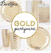 21pcs gold silver Disposable Chevron Party Tableware Sets Paper Plates Cups for Birthday Bridal Shower Children Party Decoration