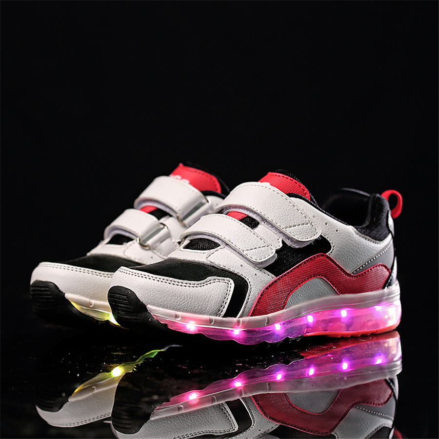 Children Shoes Spring Led Girls Shoes With Light Glowing Sneakers Usb Zapatillas New 2017 Casual Sneakers Kids Spring 50Z0027 glowing sneakers usb charging shoes lights up colorful led kids luminous sneakers glowing sneakers black led shoes for boys