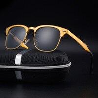 2017 Venda Directa por Tempo-limitado de Magnésio Personalidade Dos Homens Full Frame Homens Clássicos Óculos De Sol Piloto Polarizada Oculos Gafas
