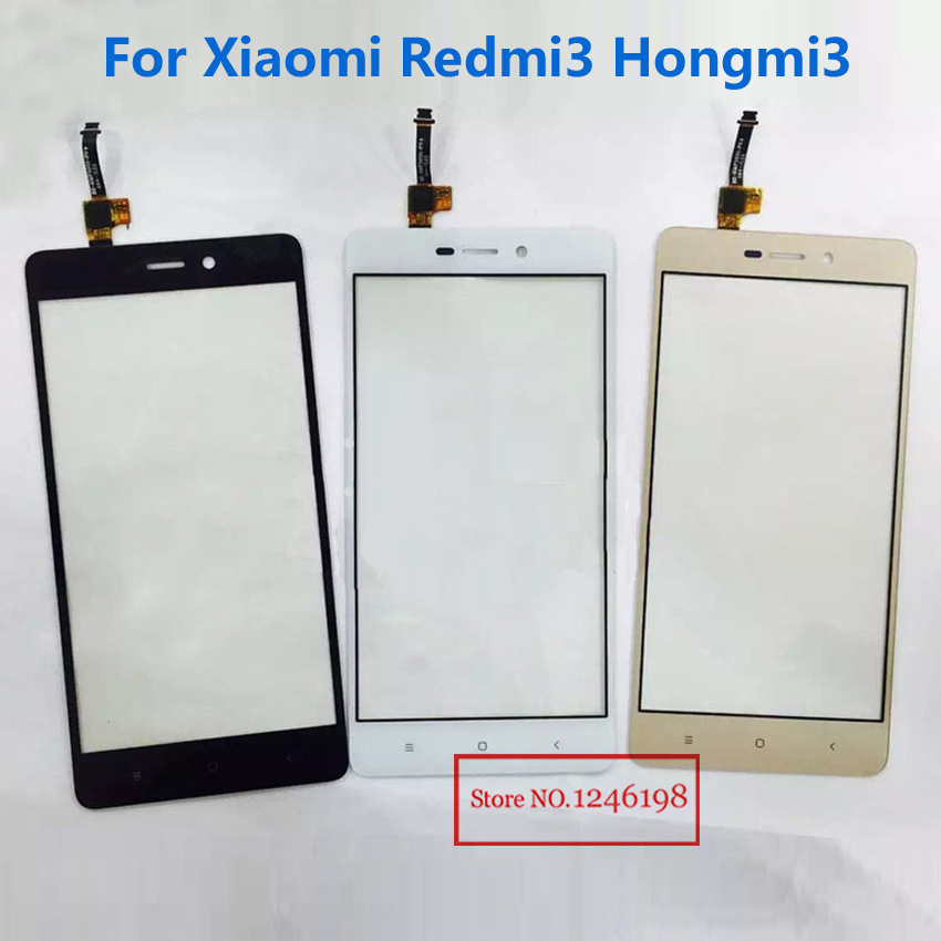 TOP Quality Outer Glass Panel Touch Screen Digitizer For Xiaomi Redmi3 Hongmi3 Redmi Hongmi 3 Phone Part Replacement Parts