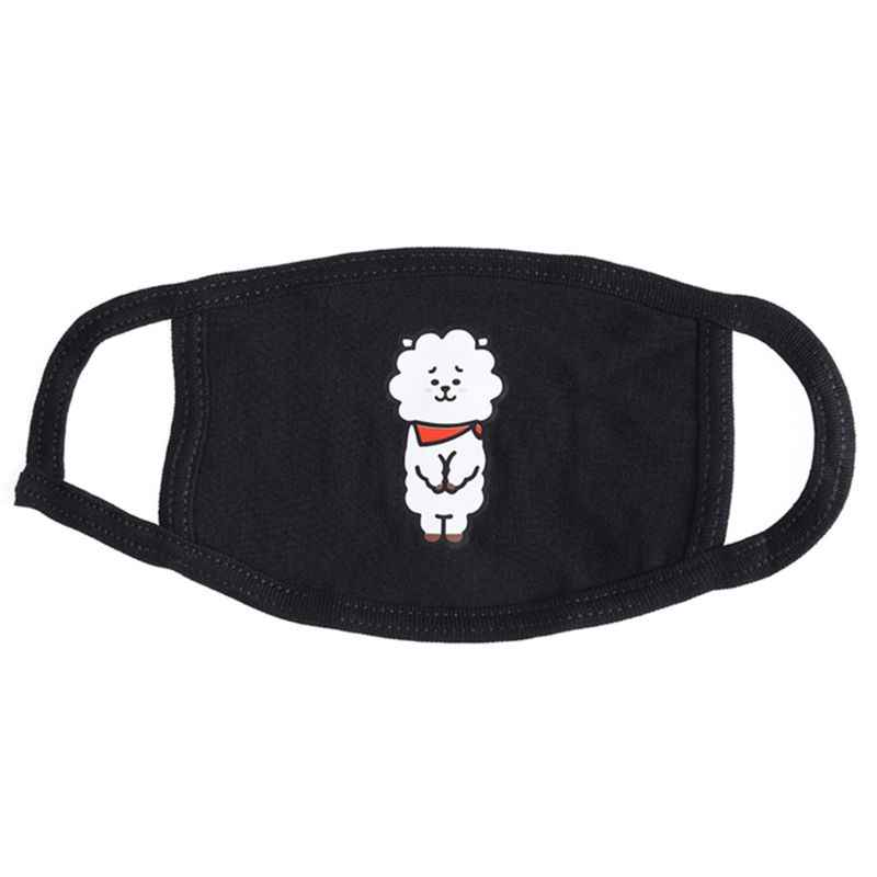 Women Men Unisex Cotton Half Face Mouth Mask Kpop Colorful Cute Cartoon Animal Printed Dustproof Muffle Respirator
